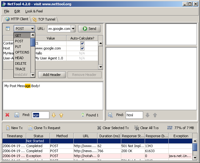 NetTool HTTP Client